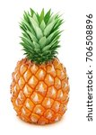 Whole Pineapple Isolated On A...
