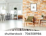 white lamps above countertop... | Shutterstock . vector #706508986