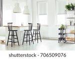 White Lamps Above Kitchen...