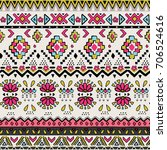 seamless ethnic   tribal... | Shutterstock .eps vector #706524616