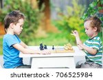 beginning of the game of chess. ... | Shutterstock . vector #706525984