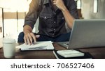 authentic image of a pensive...   Shutterstock . vector #706527406