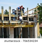 construction workers at work | Shutterstock . vector #706534234