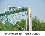 soccer goal with net | Shutterstock . vector #706536808