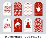 christmas and new year gift... | Shutterstock .eps vector #706541758