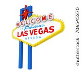 welcome to fabulous las vegas... | Shutterstock . vector #706545370