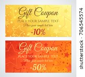 gift certificate  voucher ... | Shutterstock .eps vector #706545574