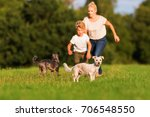 picture of a mother who runs... | Shutterstock . vector #706548550