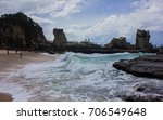 beach with beautiful rocks | Shutterstock . vector #706549648