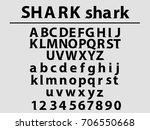 beautiful font uppercase ... | Shutterstock .eps vector #706550668