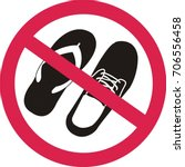 no sandals or shoes sign on... | Shutterstock .eps vector #706556458