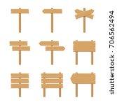 wooden signboards   vector...   Shutterstock .eps vector #706562494