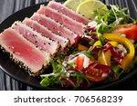 Sliced Steak Of Tuna In Sesame...