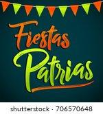 fiestas patrias   national...   Shutterstock .eps vector #706570648