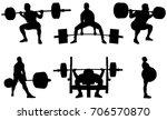 set powerlifting athletes... | Shutterstock .eps vector #706570870