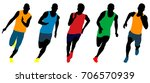 set athletics runners sprinters ... | Shutterstock .eps vector #706570939