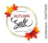 autumn sale banner template... | Shutterstock .eps vector #706573033