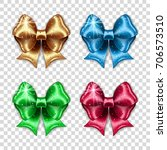 set of colorful gift bows on... | Shutterstock .eps vector #706573510