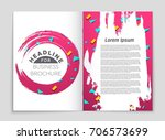 abstract vector layout... | Shutterstock .eps vector #706573699