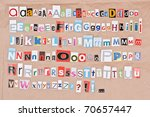 alphabet  letters sorted on... | Shutterstock . vector #70657447