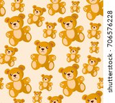 bear toy seamless pattern  kid... | Shutterstock .eps vector #706576228