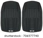 rubber floor mat set for cars ... | Shutterstock . vector #706577740