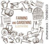 set of farming equipment icons. ...   Shutterstock .eps vector #706580113