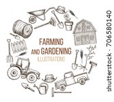 set of farming equipment icons. ... | Shutterstock .eps vector #706580140