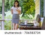beautiful young asian girl...   Shutterstock . vector #706583734