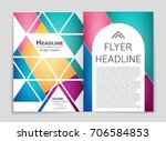 abstract vector layout... | Shutterstock .eps vector #706584853