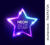 abstract neon star. electric...
