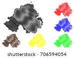 northern ireland map vector... | Shutterstock .eps vector #706594054