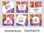 abstract vector layout... | Shutterstock .eps vector #706596070