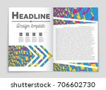 abstract vector layout... | Shutterstock .eps vector #706602730