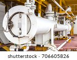 pig launcher in oil and gas... | Shutterstock . vector #706605826