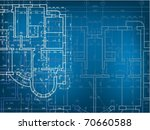 building background. plan of... | Shutterstock .eps vector #70660588