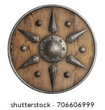 Old Wooden Vikings' Shield...