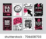 set of templates banners for... | Shutterstock .eps vector #706608703