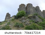 destroyed amberd fortress in... | Shutterstock . vector #706617214