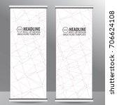 roll up business brochure flyer ...   Shutterstock .eps vector #706624108