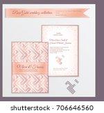 luxury wedding invitation... | Shutterstock .eps vector #706646560