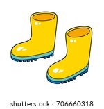 wellies gum boots isolated | Shutterstock .eps vector #706660318