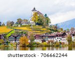 traditional houses  church....   Shutterstock . vector #706662244