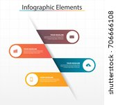 infographic business  timeline... | Shutterstock .eps vector #706666108