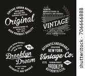 vintage typography for t shirt... | Shutterstock .eps vector #706666888