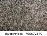 Dry Cane Background. Roof Of A...