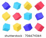 building blocks. cubes at... | Shutterstock .eps vector #706674364