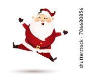 christmas cute santa claus... | Shutterstock .eps vector #706680856