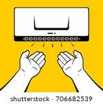 man drying hands | Shutterstock .eps vector #706682539