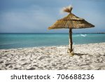 tropical beach and turquoise sea | Shutterstock . vector #706688236